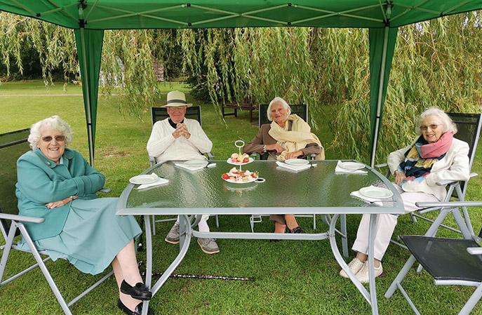 Summer garden party Clare Park